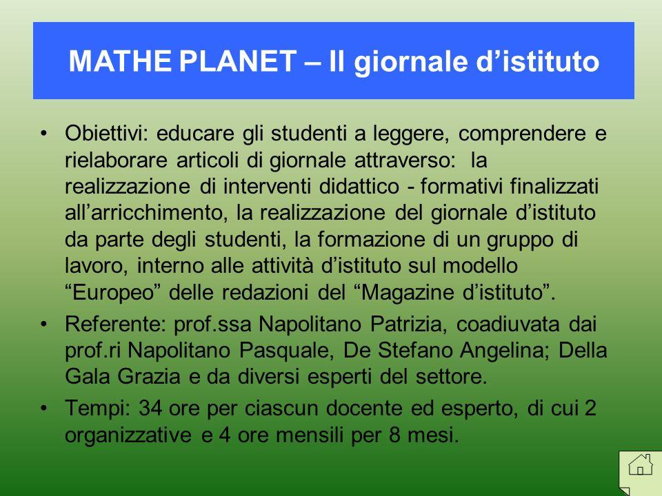 Obiettivi: educare gli studenti a leggere, comprendere e rielaborare articoli di giornale attraverso: la realizzazione di interventi didattico - forma