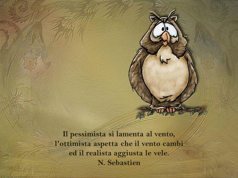 Il pessimista si lamenta al vento, l ottimista aspetta che il vento cambi ed il realista aggiusta le vele.