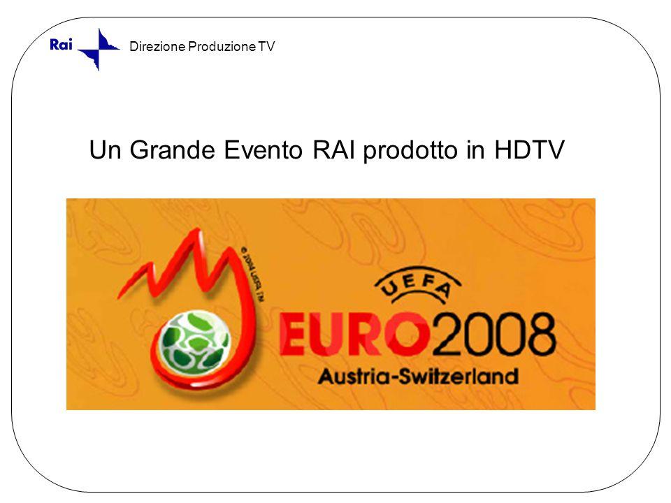 Direzione Produzione TV Un Grande Evento RAI prodotto in HDTV
