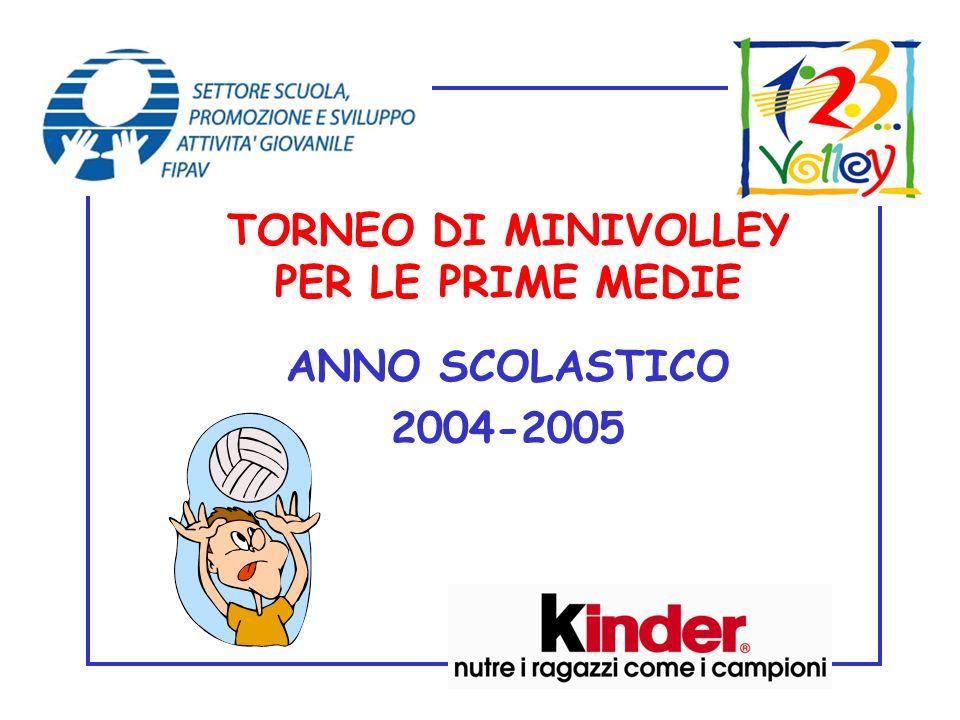 TORNEO DI MINIVOLLEY PER LE PRIME MEDIE ANNO SCOLASTICO 2004-2005
