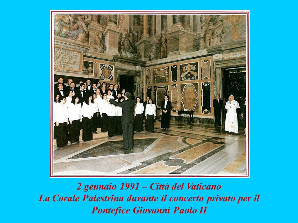 2 gennaio 1991 – Città del Vaticano La Corale Palestrina durante il concerto privato per il Pontefice Giovanni Paolo II