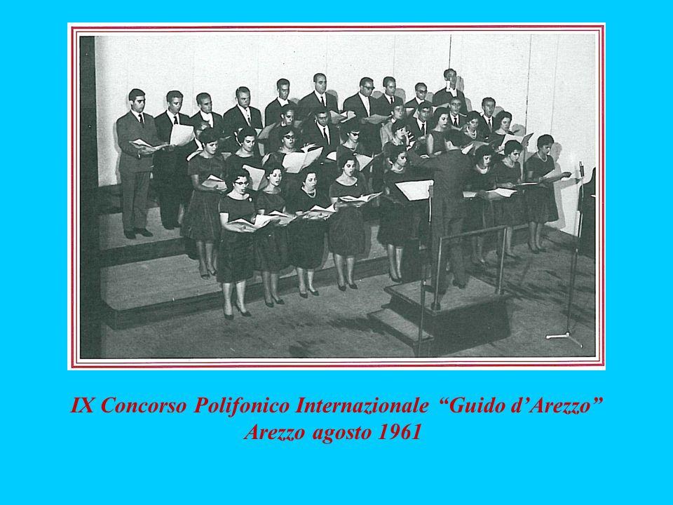 IX Concorso Polifonico Internazionale Guido dArezzo Arezzo agosto 1961