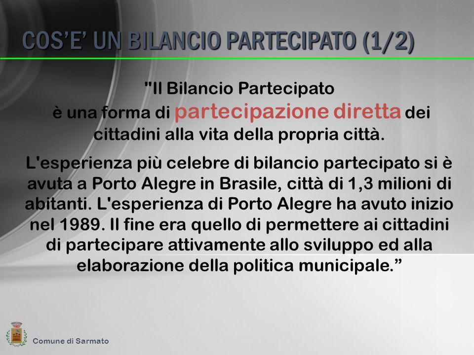 Il Bilancio Partecipato è una forma di partecipazione diretta dei cittadini alla vita della propria città.