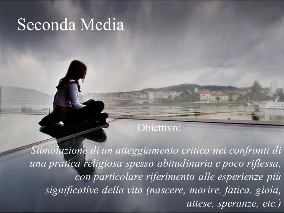 Seconda Media Obiettivo: Stimolazione di un atteggiamento critico nei confronti di una pratica religiosa spesso abitudinaria e poco riflessa, con part