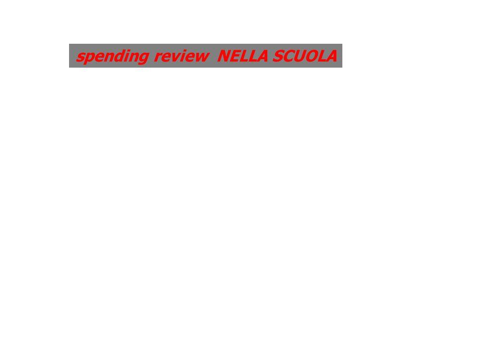 spending review NELLA SCUOLA