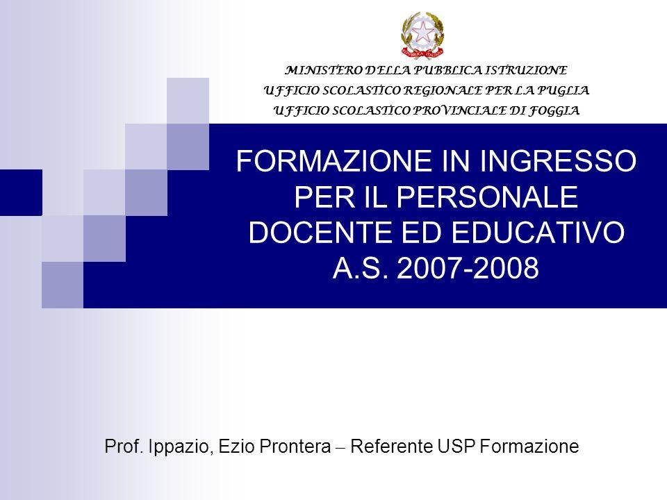 FORMAZIONE IN INGRESSO PER IL PERSONALE DOCENTE ED EDUCATIVO A.S.