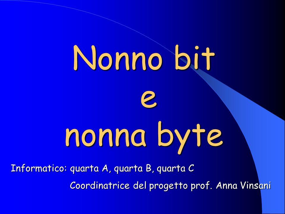 Nonno bit e nonna byte Informatico: quarta A, quarta B, quarta C Coordinatrice del progetto prof.