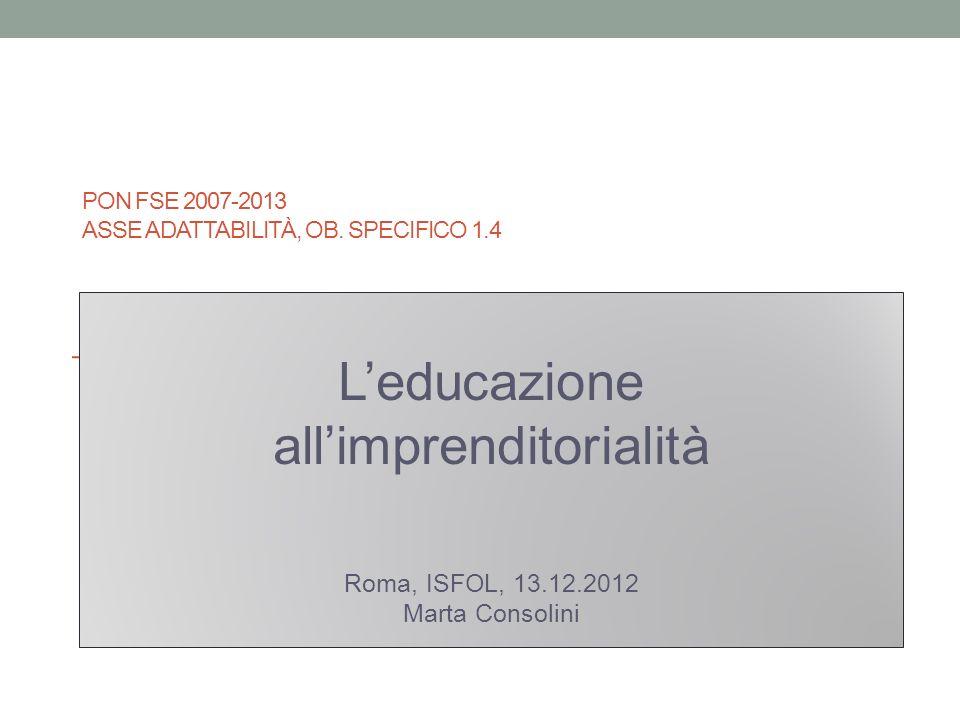 PON FSE 2007-2013 ASSE ADATTABILITÀ, OB.