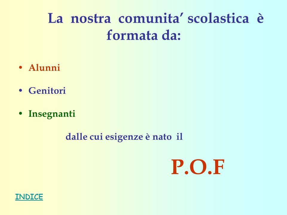Il P.O.F.racchiude la progettazione: P.O.F. P.O.F.