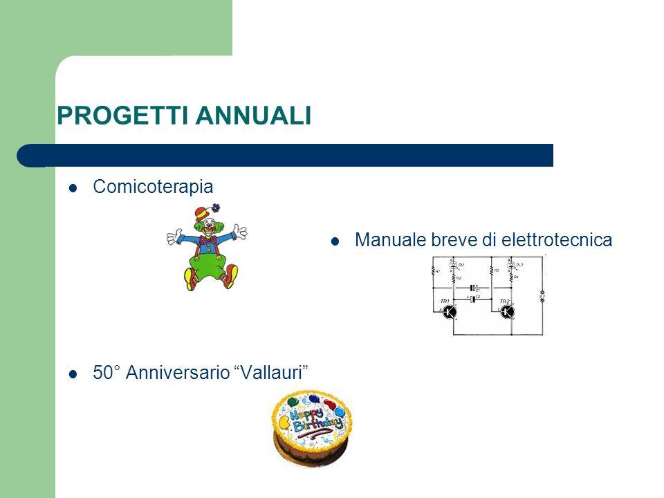 PROGETTI ANNUALI Comicoterapia Manuale breve di elettrotecnica 50° Anniversario Vallauri