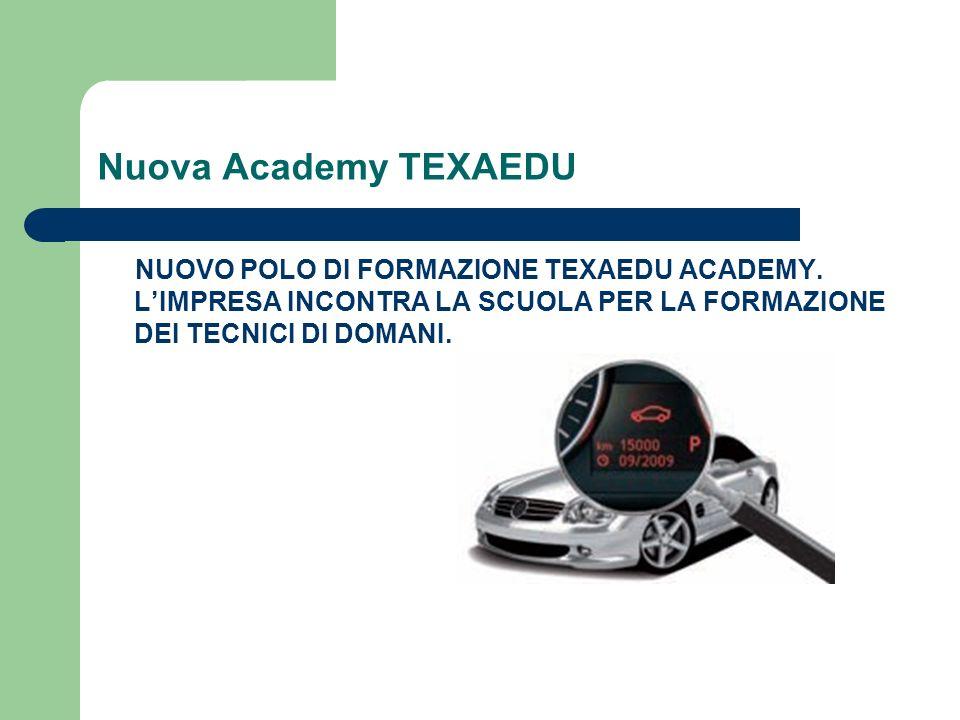 Nuova Academy TEXAEDU NUOVO POLO DI FORMAZIONE TEXAEDU ACADEMY. LIMPRESA INCONTRA LA SCUOLA PER LA FORMAZIONE DEI TECNICI DI DOMANI.