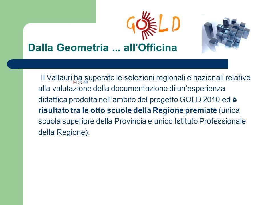 Dalla Geometria... all'Officina Il Vallauri ha superato le selezioni regionali e nazionali relative alla valutazione della documentazione di unesperie
