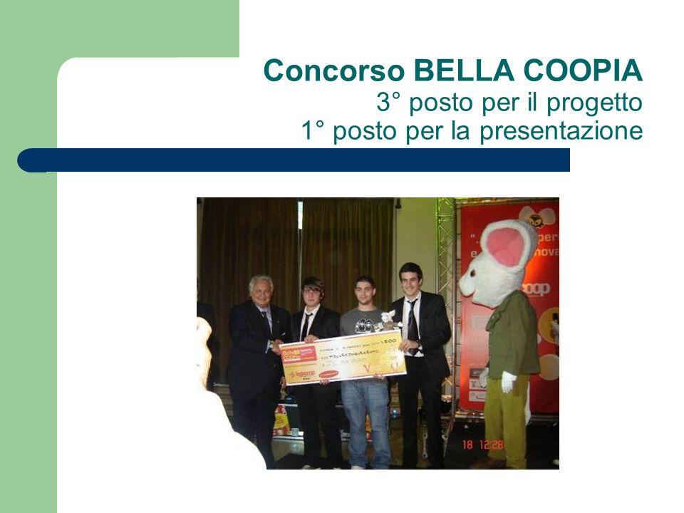 Concorso BELLA COOPIA 3° posto per il progetto 1° posto per la presentazione