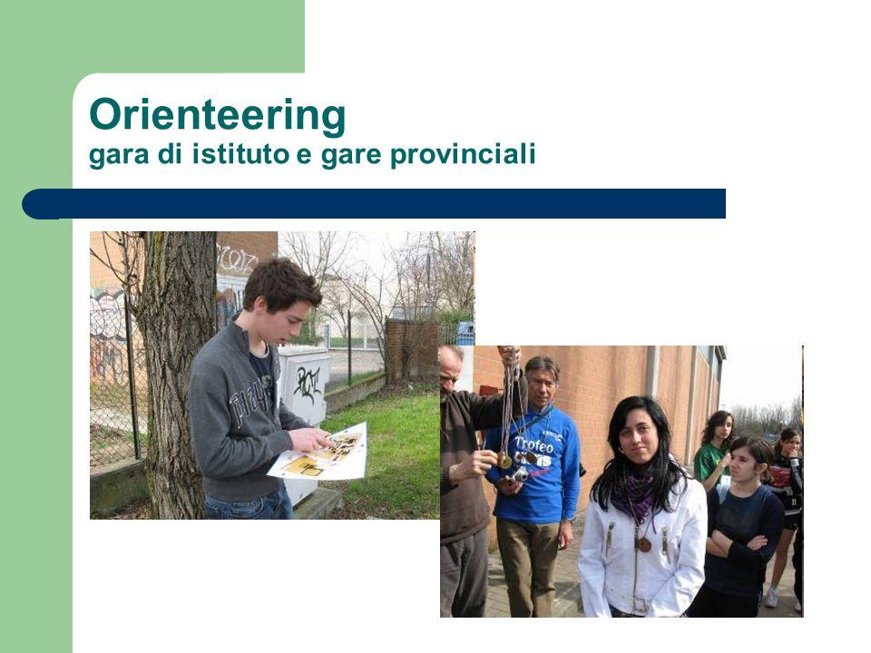 Orienteering gara di istituto e gare provinciali