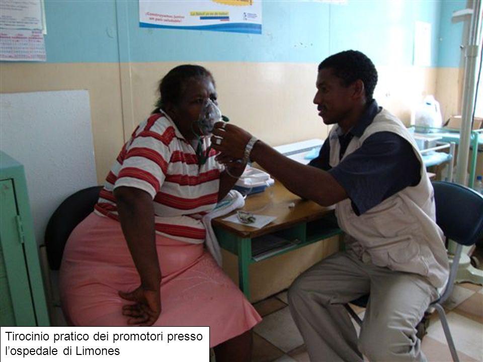 Tirocinio pratico dei promotori presso lospedale di Limones