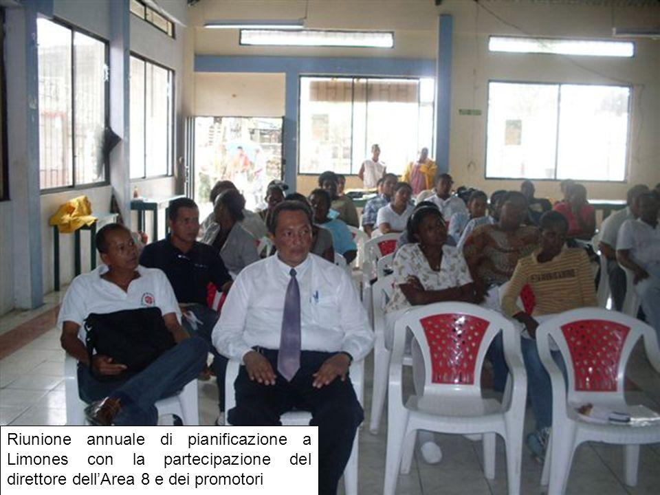 Riunione annuale di pianificazione a Limones con la partecipazione del direttore dellArea 8 e dei promotori