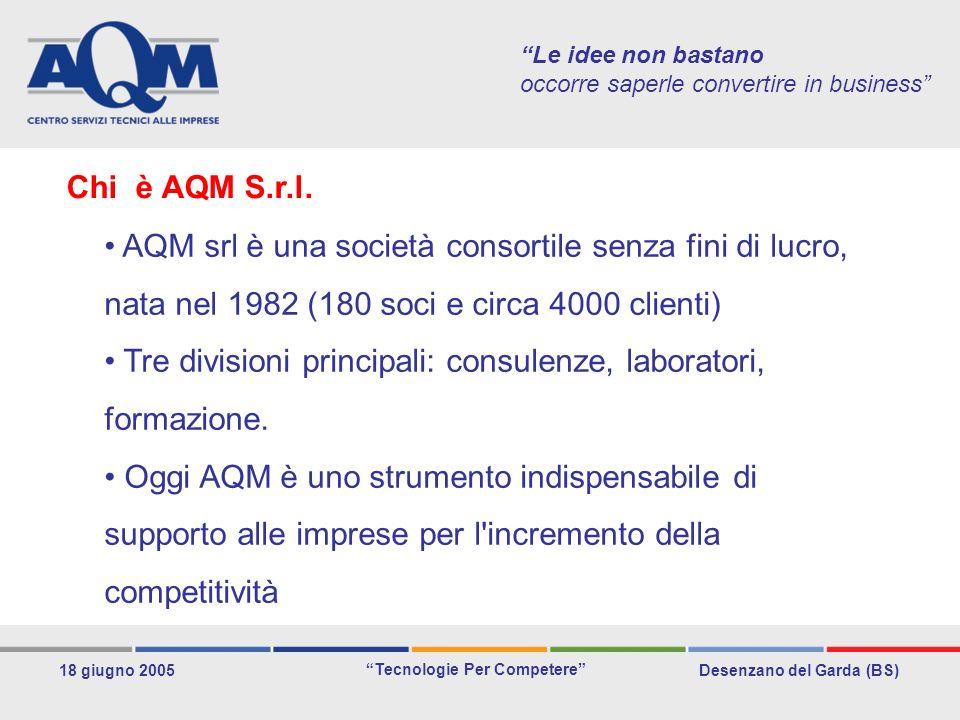 Desenzano del Garda (BS) Tecnologie Per Competere 18 giugno 2005 Le idee non bastano occorre saperle convertire in business Sviluppare un nuovo progetto web.