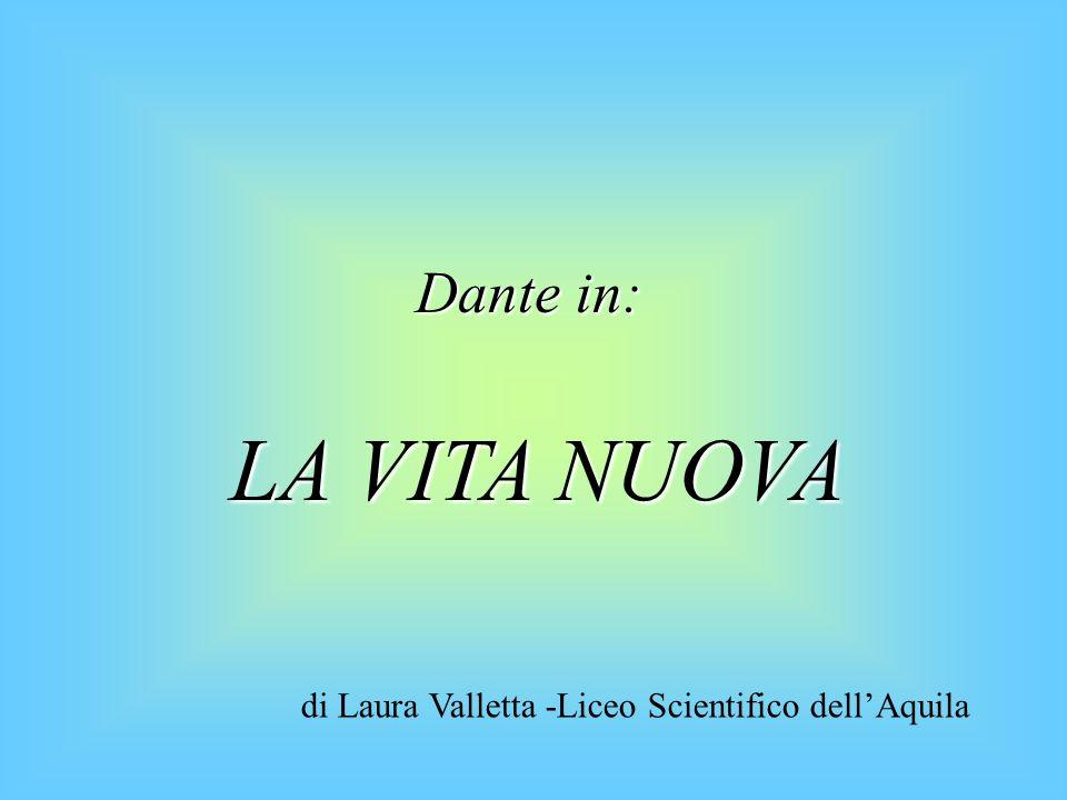 VITA NUOVA VITA NUOVA Nuova strada che distacca Dante dallo stilnovismo Componimento dello stesso Dante