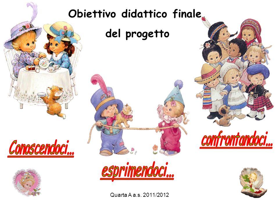 Quarta A a.s. 2011/2012 Obiettivo didattico finale, del progetto