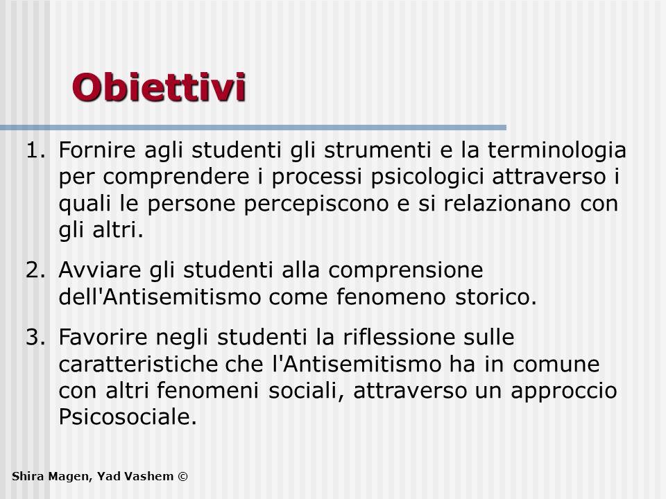 Obiettivi 1.Fornire agli studenti gli strumenti e la terminologia per comprendere i processi psicologici attraverso i quali le persone percepiscono e