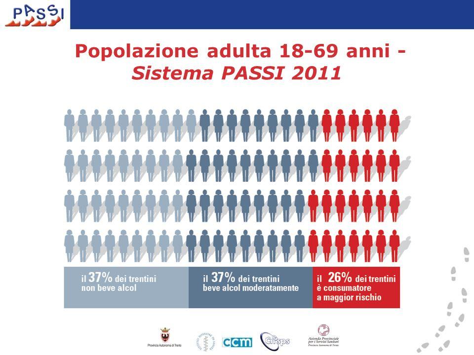 Popolazione adulta 18-69 anni - Sistema PASSI 2011