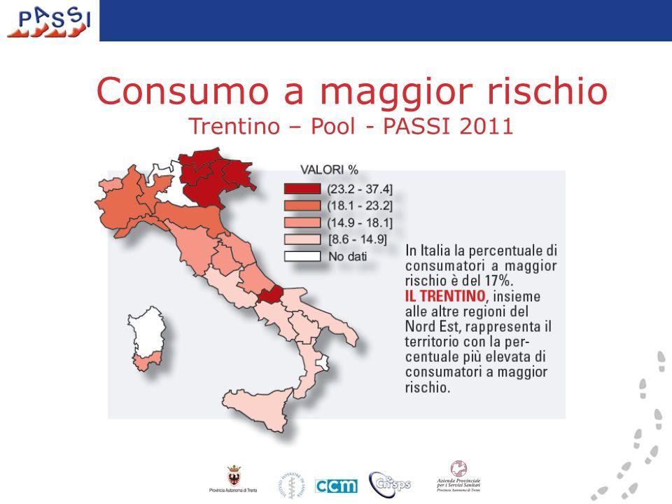 Consumo a maggior rischio Trentino – Pool - PASSI 2011