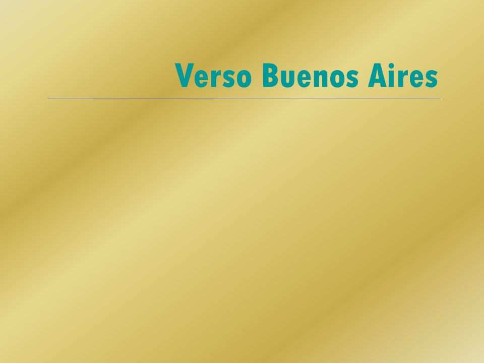 Verso Buenos Aires