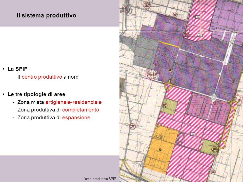 13 Il sistema produttivo La SPIP -Il centro produttivo a nord Le tre tipologie di aree -Zona mista artigianale-residenziale -Zona produttiva di comple