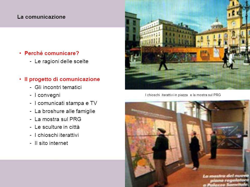 28 La comunicazione Perché comunicare? -Le ragioni delle scelte Il progetto di comunicazione -Gli incontri tematici -I convegni -I comunicati stampa e