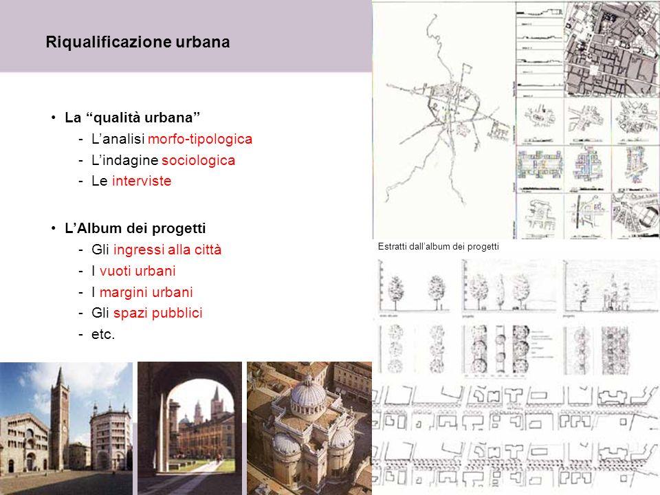 8 Riqualificazione urbana La qualità urbana -Lanalisi morfo-tipologica -Lindagine sociologica -Le interviste LAlbum dei progetti -Gli ingressi alla ci