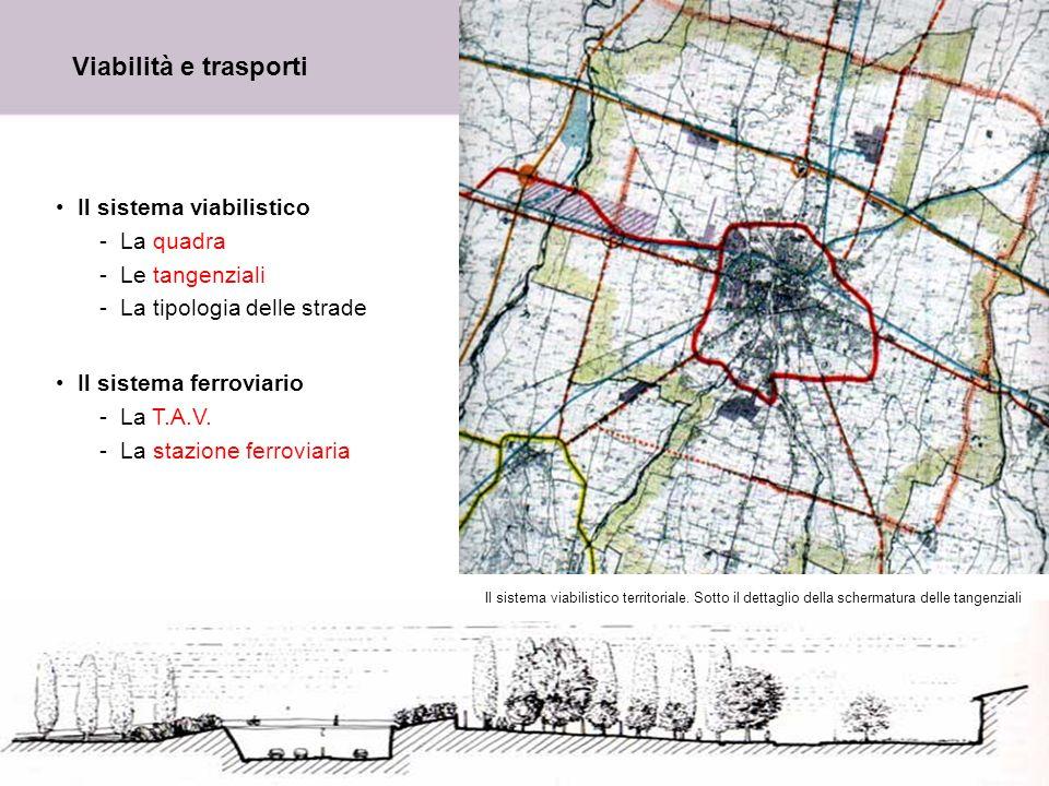 9 Viabilità e trasporti Il sistema viabilistico -La quadra -Le tangenziali -La tipologia delle strade Il sistema ferroviario -La T.A.V. -La stazione f