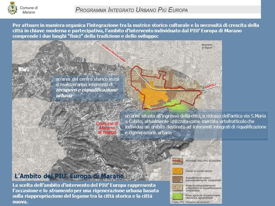 La scelta dellambito d'intervento del PIU Europa rappresenta loccasione e lo strumento per una rigenerazione urbana basata sulla riappropriazione del