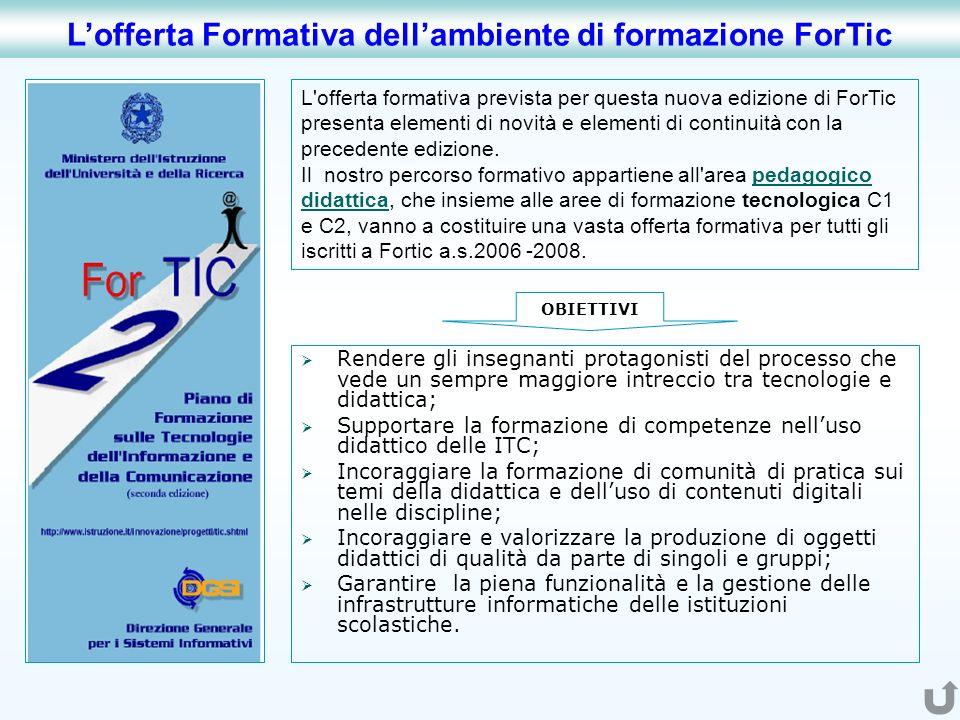 L'offerta formativa prevista per questa nuova edizione di ForTic presenta elementi di novità e elementi di continuità con la precedente edizione. Il n