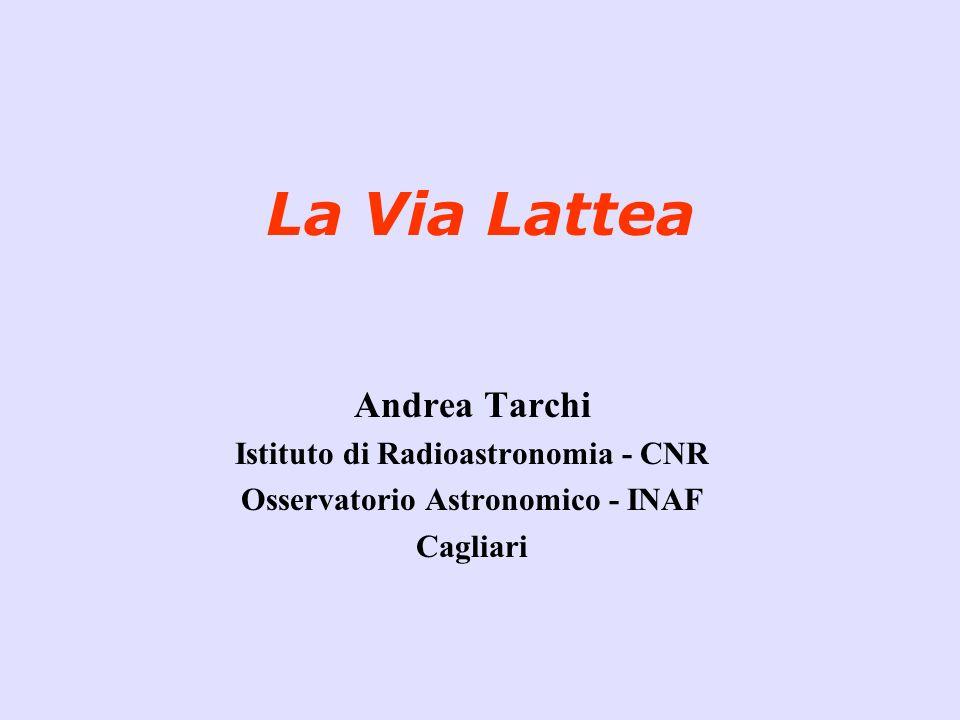 La Via Lattea Andrea Tarchi Istituto di Radioastronomia - CNR Osservatorio Astronomico - INAF Cagliari
