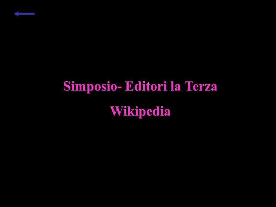 Simposio- Editori la Terza Wikipedia