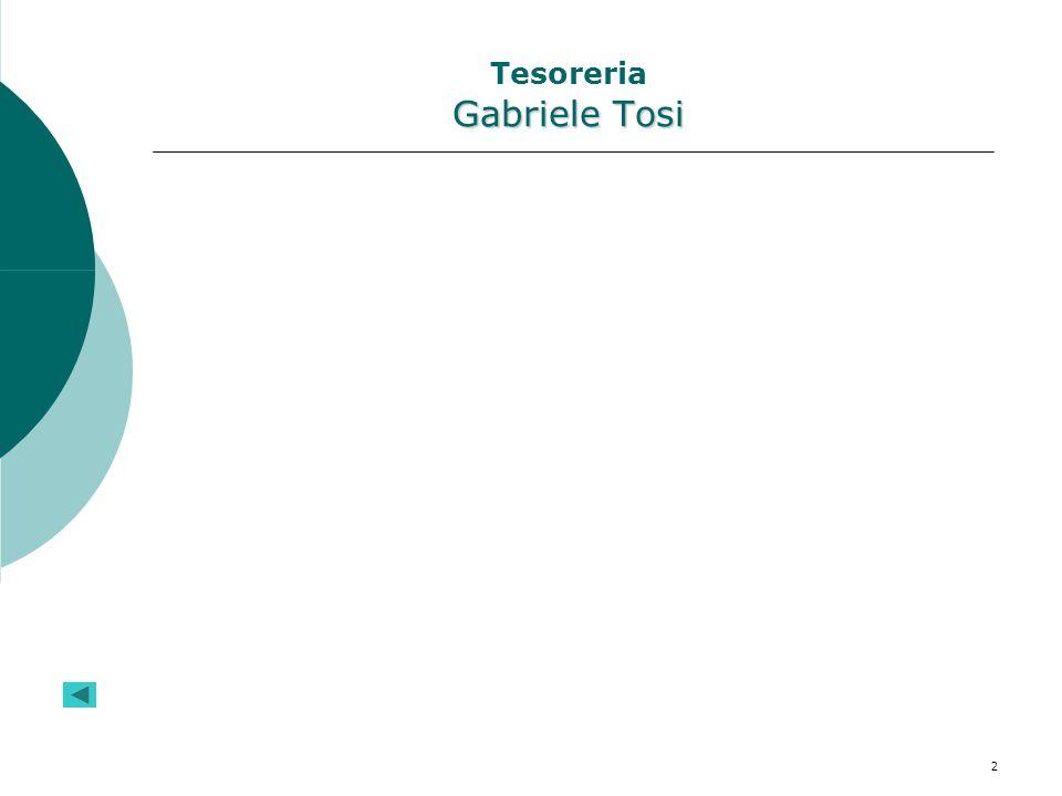 2 Gabriele Tosi Tesoreria Gabriele Tosi