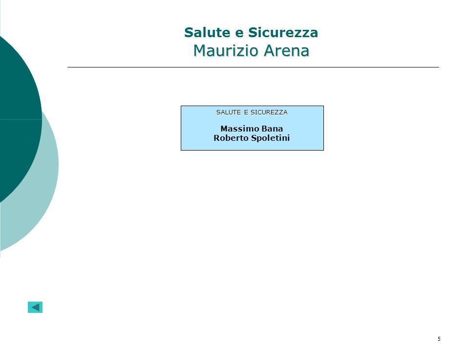 5 Maurizio Arena Salute e Sicurezza Maurizio Arena SALUTE E SICUREZZA Massimo Bana Roberto Spoletini