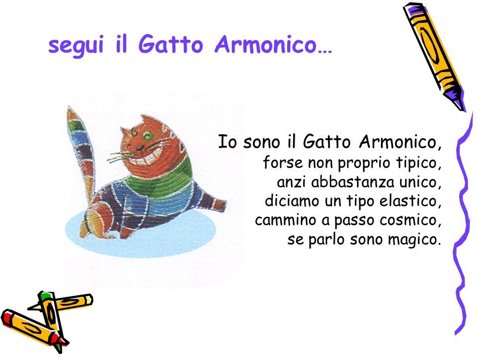 segui il Gatto Armonico… Io sono il Gatto Armonico, forse non proprio tipico, anzi abbastanza unico, diciamo un tipo elastico, cammino a passo cosmico