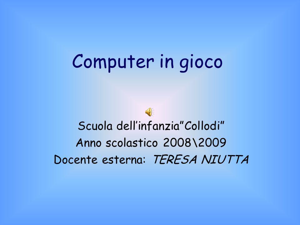 Computer in gioco Scuola dellinfanziaCollodi Anno scolastico 2008\2009 Docente esterna: TERESA NIUTTA