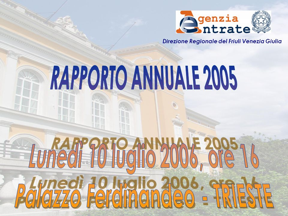 Direzione Regionale del Friuli Venezia Giulia