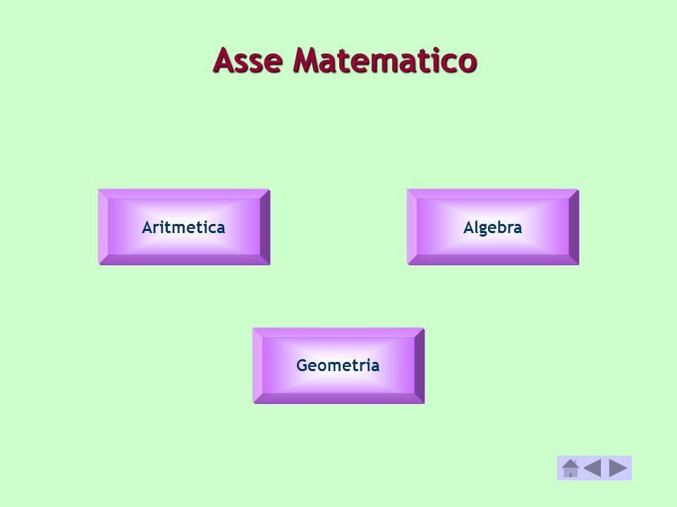 Asse Matematico Aritmetica Geometria Algebra