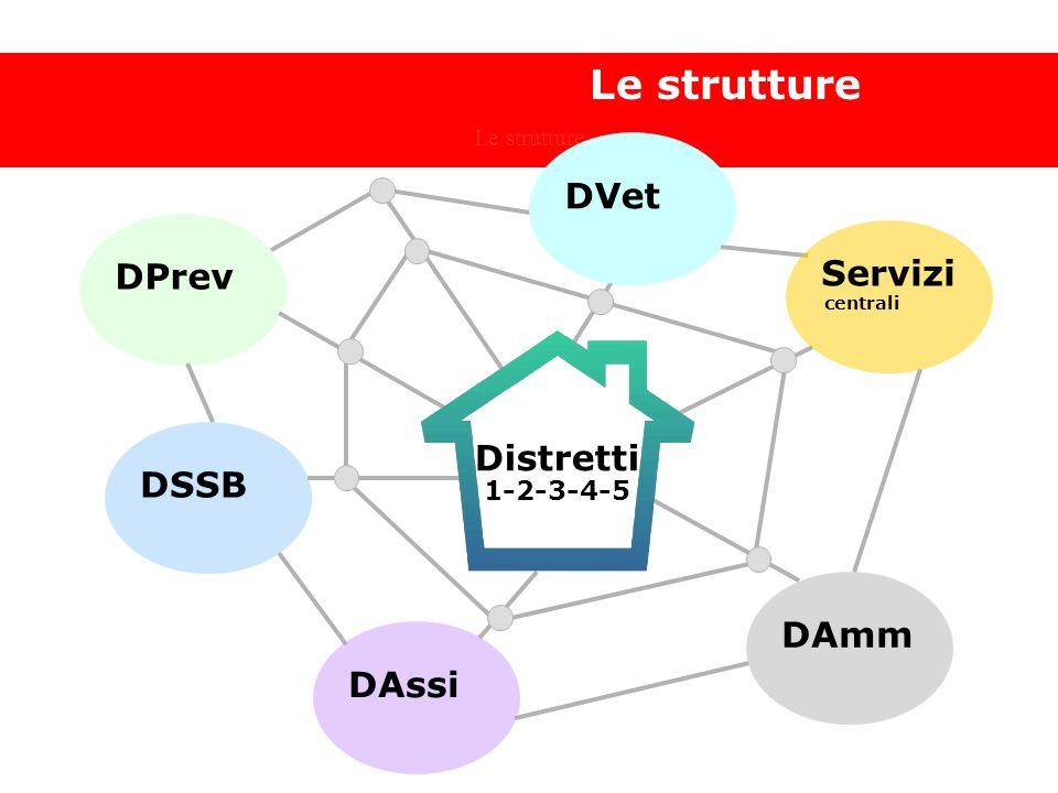 Hanno risposto 22 partecipanti Le strutture 1-2-3-4-5 DPrev DSSB DAssi DAmm DVet centrali Servizi Distretti 1-2-3-4-5