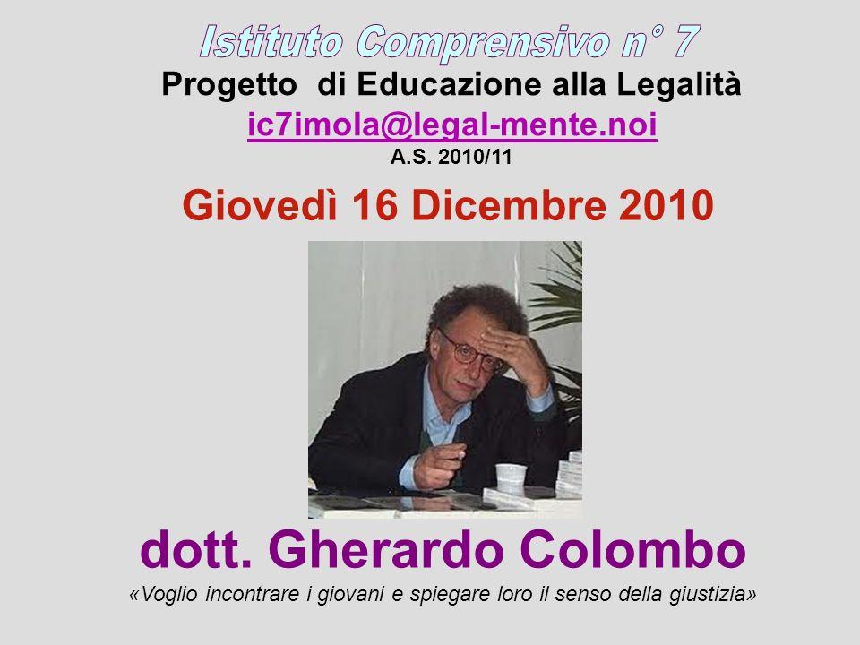 Progetto di Educazione alla Legalità ic7imola@legal-mente.noi A.S.