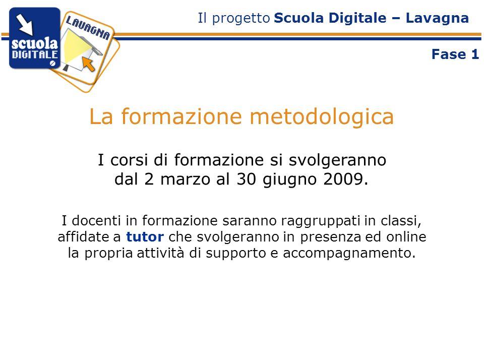 La formazione metodologica Il progetto Scuola Digitale – Lavagna I corsi di formazione si svolgeranno dal 2 marzo al 30 giugno 2009.