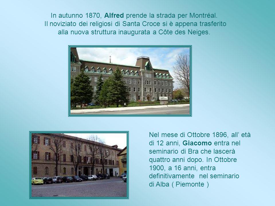 Alfred a volte è andato a Saint-Césaire e trascorre qualche tempo in canonica dove conosce Padre André Provençal. Un giorno il sacerdote domanda ad Al