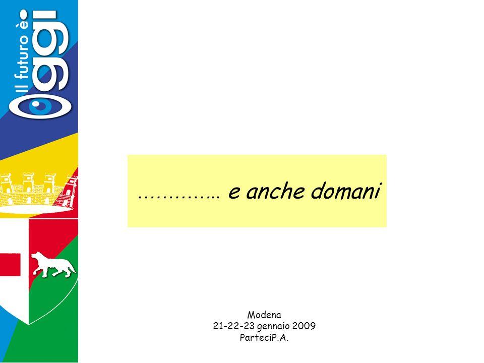 ………….. e anche domani Modena 21-22-23 gennaio 2009 ParteciP.A.
