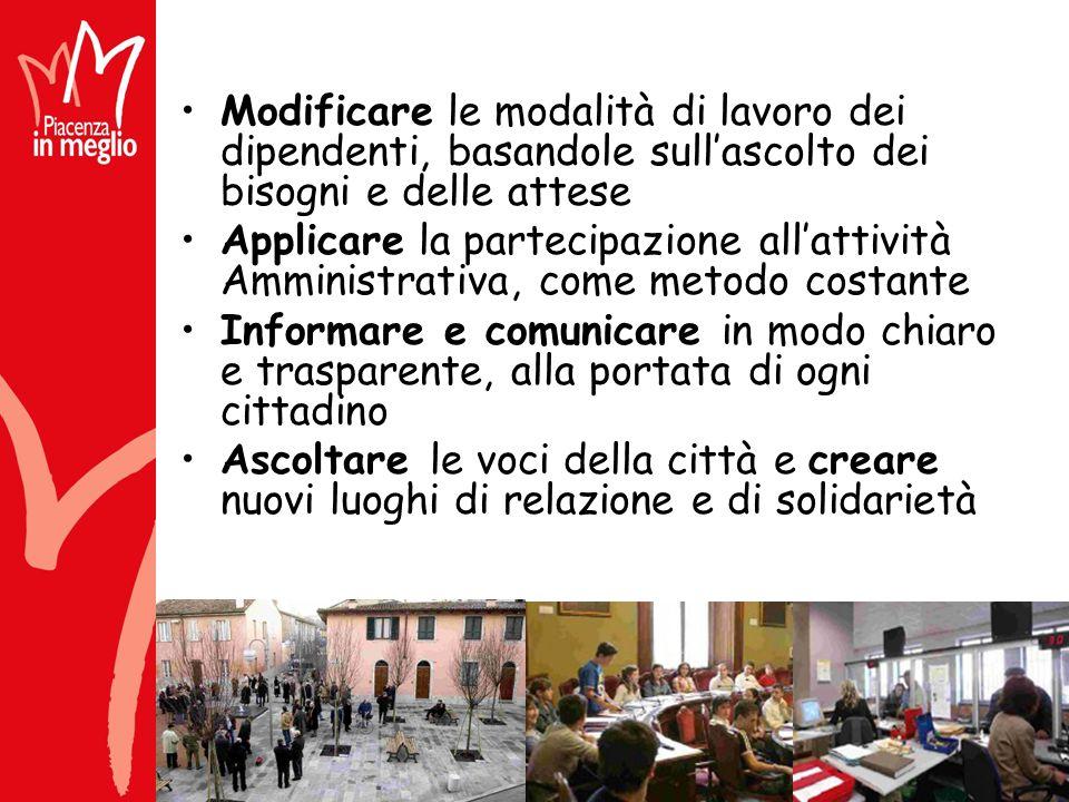 2005 Piacenza in meglio Il Comune di Piacenza per un bilancio di metà mandato Opuscolo in forma semplice, suddiviso per argomenti per una facile lettura e per capire i cambiamenti avvenuti Panorama completo di tutti i settori dellazione comunale
