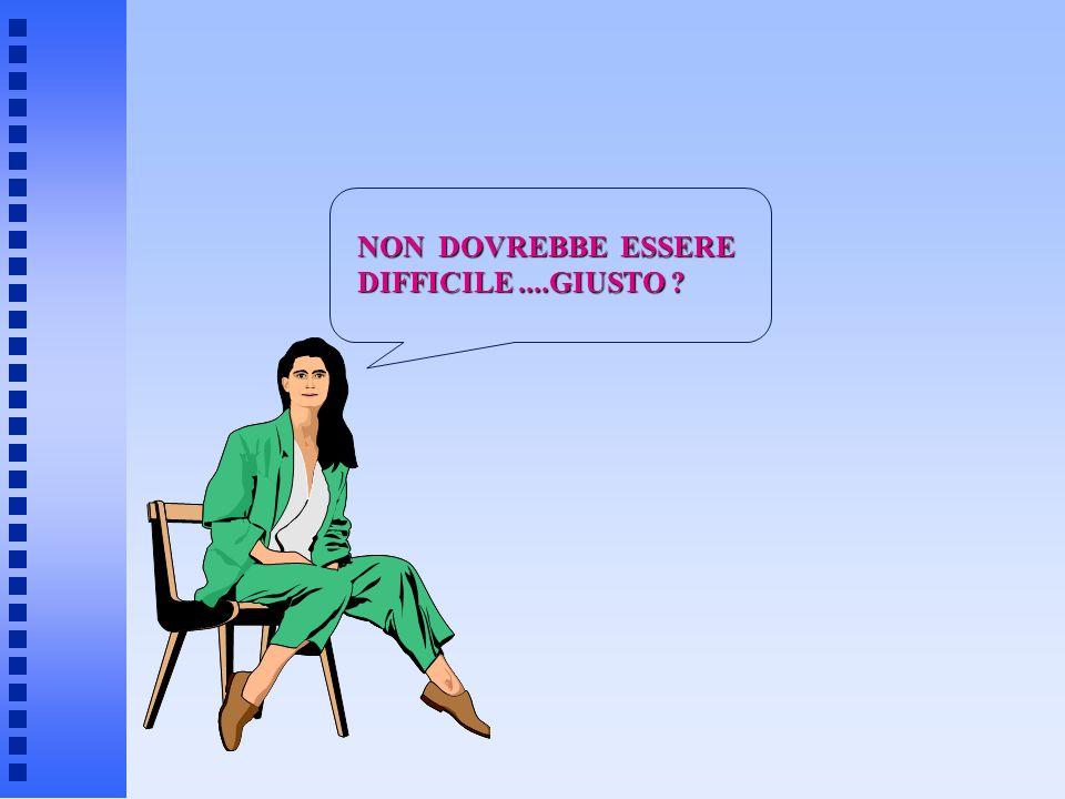 NON DOVREBBE ESSERE DIFFICILE....GIUSTO ?