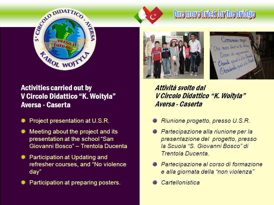 Riunione progetto, presso U.S.R. Partecipazione alla riunione per la presentazione del progetto, presso la Scuola S. Giovanni Bosco di Trentola Ducent
