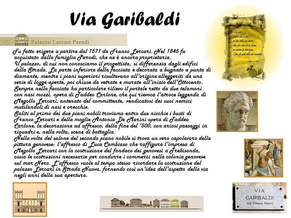 Fu fatto erigere a partire dal 1571 da Franco Lercari. Nel 1845 fu acquistato dalla famiglia Parodi, che ne è ancora proprietaria. Il palazzo, di cui